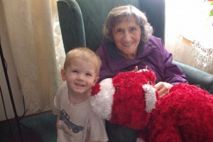 Andrew with his Great-Grandma Hill