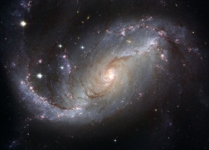 Galaxy viewed from space